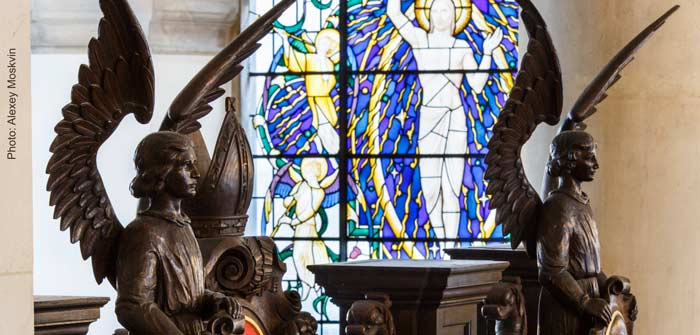 Angels and stained glass